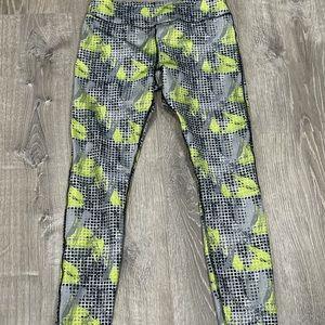 Kyodan Leggings Large Green Grey Black